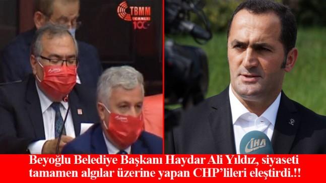 Başkan Yıldız, Gazi Mustafa Kemal'i maske yapan CHP'lileri eleştirdi!