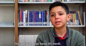 """Halepli Cuma, """"Sınavda 83 aldım, hoca Suriyeliyim diye bana 45 verdi!"""""""