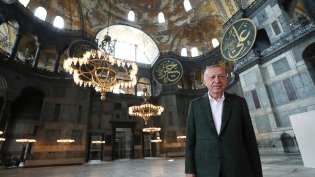 Cumhurbaşkanı Erdoğan, Ayasofya Camii'nde