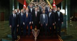 Cumhurbaşkanı Erdoğan, şampiyon Başakşehirspor'u kabul etti