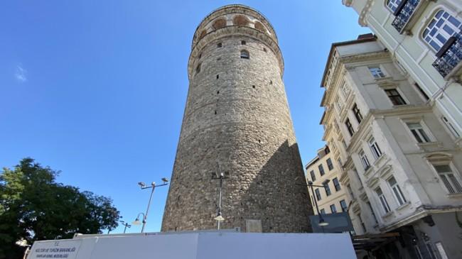 Ebabil Kuşları için Galata Kulesi'nde ki iskele söküldü