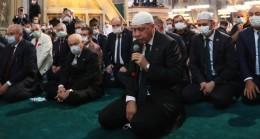 Erdoğan Ayasofya-i Kebir Cami-i Şerifi'nde Kur'an-ı Kerim okudu
