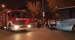 Ataşehir'de trafik kazası, bir ağır yaralı