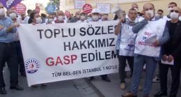 Bakırköy Belediyesi çalışanları eylemde!