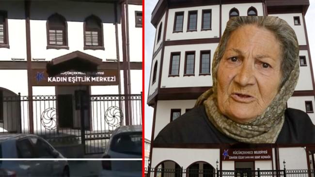 Gezici CHP'li belediye, merhum Zahide Ninenin ismini semt konağından kaldırdı!