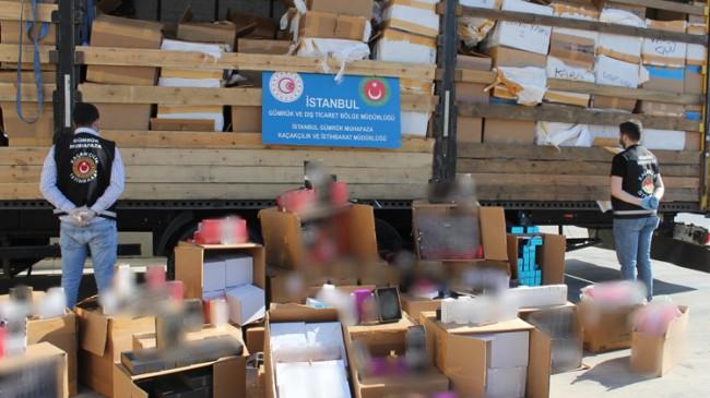 İstanbul'da 10 milyon değerinde kaçak parfüm ele geçirildi