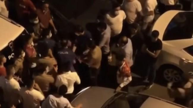 Maske ve sosyal mesafesiz asker uğurlamaya polis müdahale etti