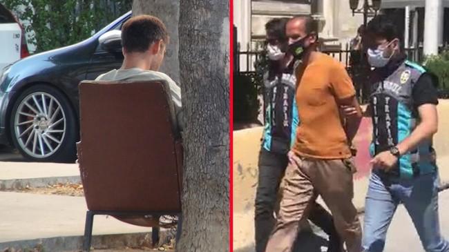 Taksim'de bir değnekçi yakalandı