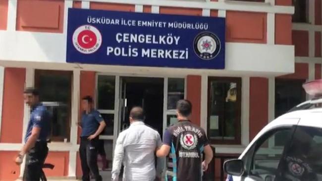 Üsküdar'da bir değnekçi gözaltına alındı