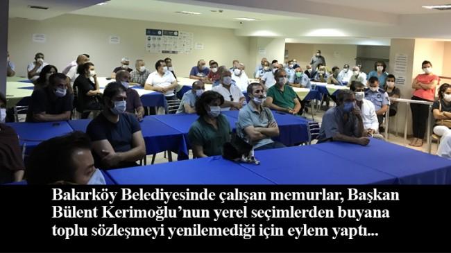 Bakırköy Belediyesi memurlarından eylem