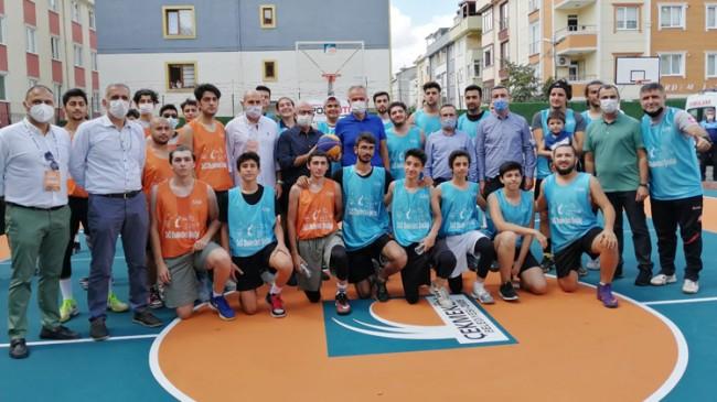 Çekmeköy sokaklarında basketbol heyecanı