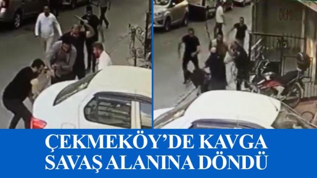 Çekmeköy'de bıçaklı, sopalı kavga