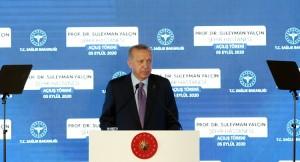 """Erdoğan, """"Artan vaka sayısına rağmen sağlık sistemimiz dimdik ayaktadır"""""""