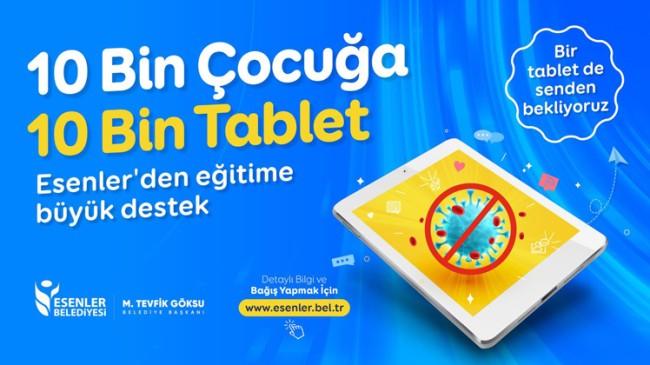 Esenler Belediyesi'nden ihtiyacı olan öğrencilere tablet desteği