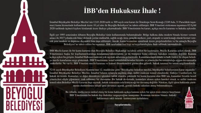 İBB'den Beyoğlu'nda hukuksuz ihale!