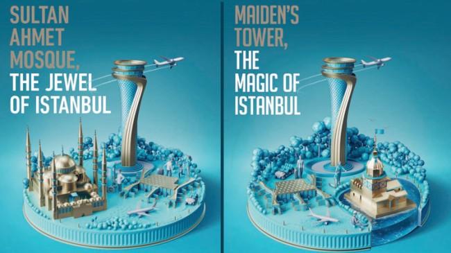 İstanbul Havalimanı'nın görsel tasarımları yolcuların beğenisine sunuldu