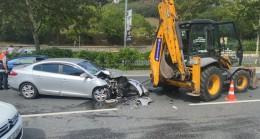 Kazada sürücüyü hava yastıkları kurtardı