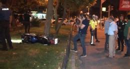Motosikletli sürücü, polisin dur ihtarına uymayıp kaçarken kaza yaptı