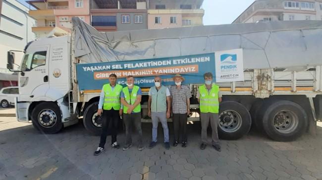 Pendik Belediyesi'nden Giresun'a uzanan yardım eli