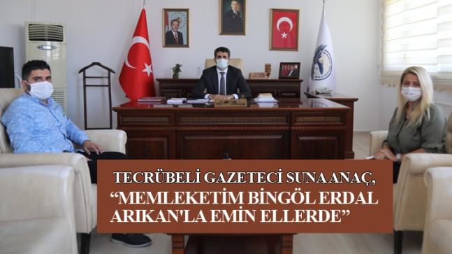 Suna Anaç, Bingöl Belediye Başkanı Erdal Arıkan ile önemli röportaj gerçekleştirdi