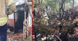 Ümraniye'de gecekonduda yangın çıktı