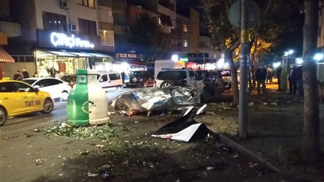 Ataşehir'de çöp konteyneri patladı