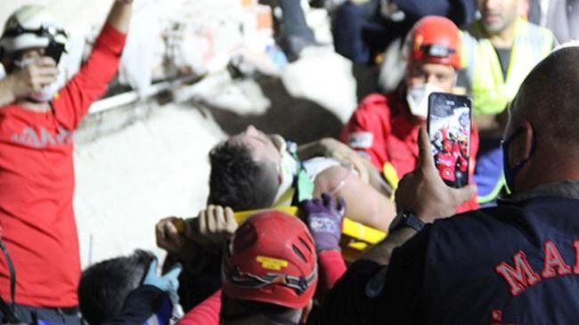 Depremden 6 saat sonra kurtarıldı