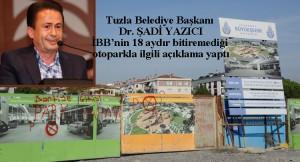 İBB Tuzla'da ki hizmetleri durdurdu