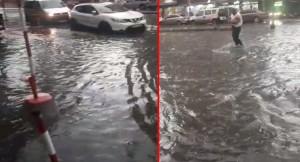 Şiddetli yağmur etkili oldu