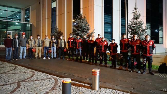 Tuzla Belediyesi Arama Kurtarma ekibi İzmir depremi için yola çıktı
