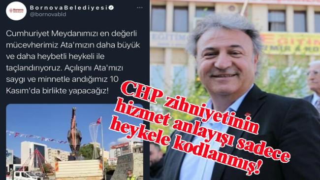 CHP'li belediyeler, depremde bile heykelle kafayı bozdular!