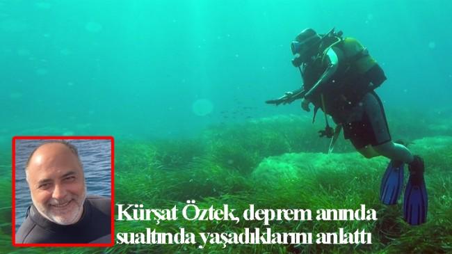 Depreme su altında yakalandılar