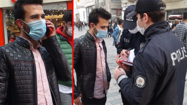İstiklal Caddesi'nde ceza yememek için polis ağabeyini aradı!