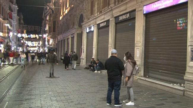 İstiklal Caddesi'nde saat 22.00'den sonra kepenkler iniyor