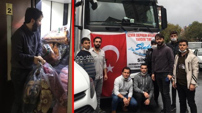 İzmirli depremzedelere Sinoplu gençlerin merhamet eli uzandı