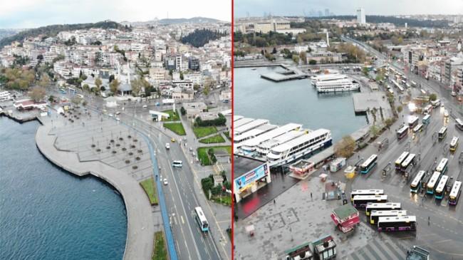 Kadıköy ve Üsküdar Meydanları sessiz