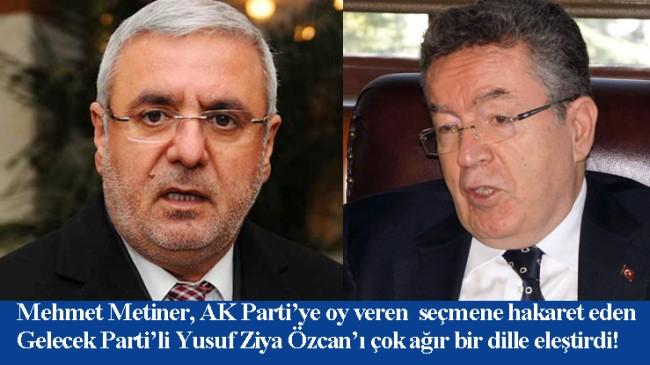 """Mehmet Metiner, """"Senin gibi bir müptezeli YÖK Başkanı yaptık ya, işte orası acıtıyor yüreğimizi…"""""""