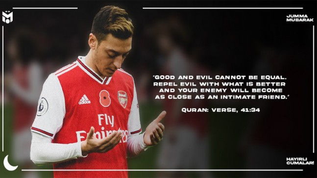 Mesut Özil'den Ayet'li mesaj