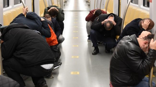Metro istasyonlarında deprem tatbikatı