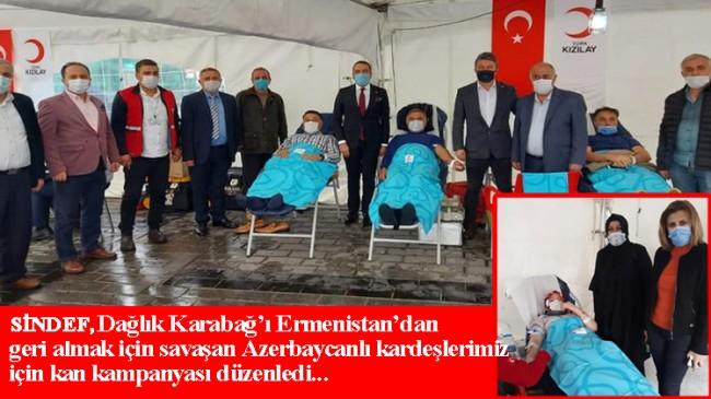 Sinoplular Azerbaycan'a kanlarıyla destek verdi!