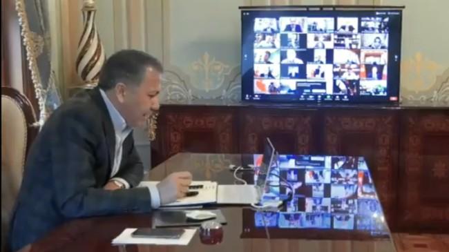 Vali Yerlikaya, belediye başkanları ile koronavirüs tedbirlerini konuştu