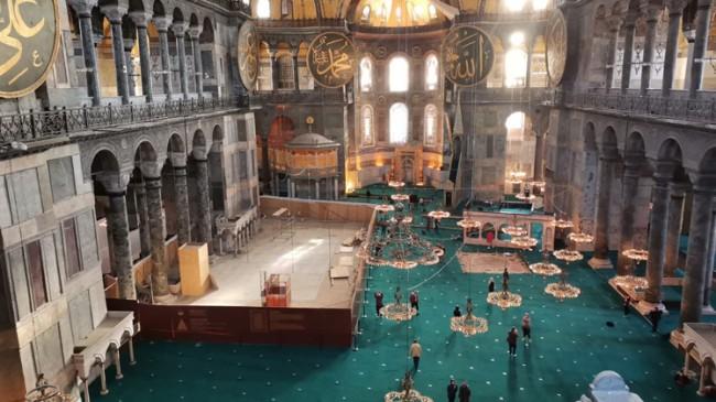 Yerlikaya'dan Ayasofya Camii paylaşımı
