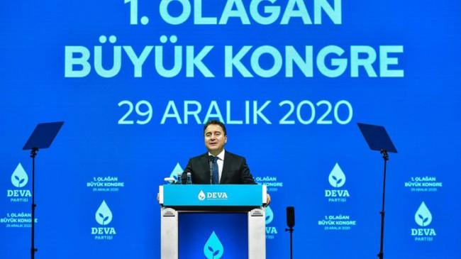 Ali Babacan, Deva Partisi 1. Olağan Kongre'sinde yeniden seçildi