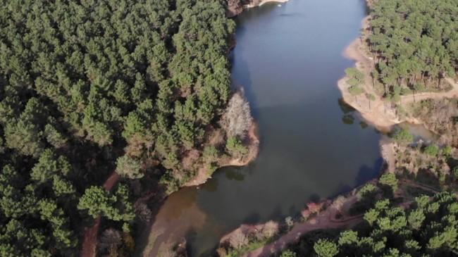 Aydos Gölü de çekilmeye başladı