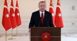 """Cumhurbaşkanı Erdoğan, """"Yönelttikleri tehditlere baktığımızda katıksız bir faşizmin izlerini görüyoruz"""""""