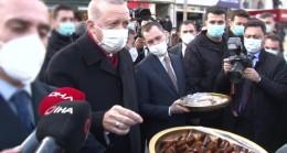 Cumhurbaşkanı Erdoğan'dan basına tatlı