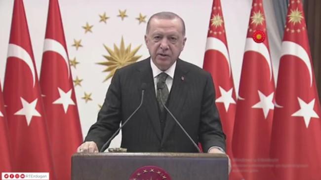 """Erdoğan, """"Yaptırım, ilk defa bir NATO üyesi olarak ülkemize uygulandı"""""""