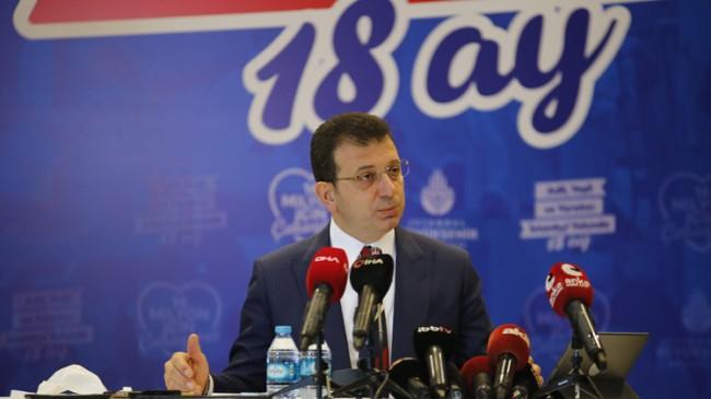 """İBB Başkanı Ekrem İmamoğlu, """"2019 ve 2020'yi kurak geçirdik"""""""