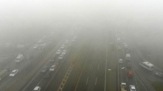İstanbul'da hava puslu