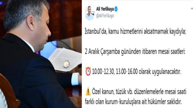 İstanbul'da mesai saatlerinde değişiklik